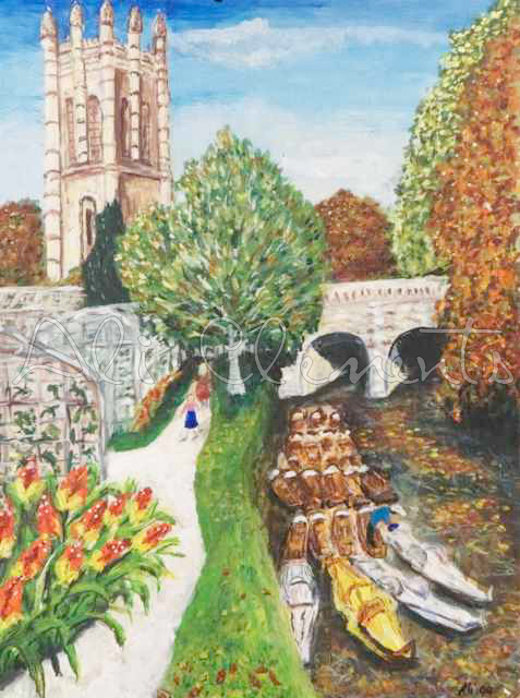 Magdalen Tower, Oxford - Ali's Art Designs