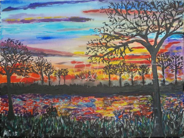 Otmoor Sunset - Ali's Art Designs