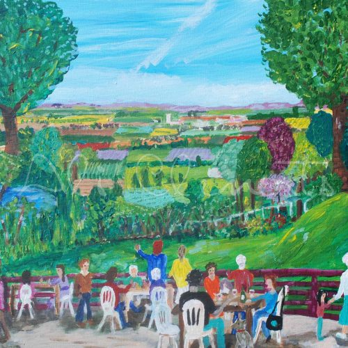 Otmoor from the Abingdon Arms - Ali's Art Designs