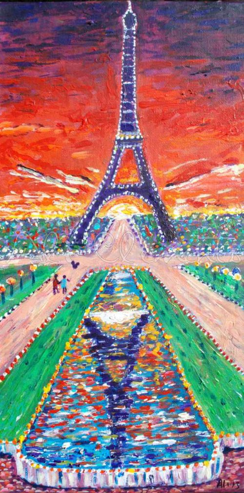 Eiffel Tower - Ali's Art Designs