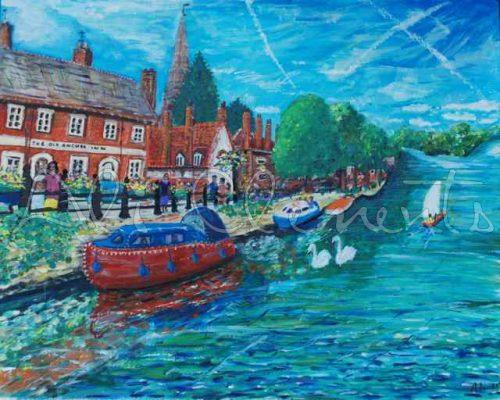 Abingdon Boats - Ali's Art Designs