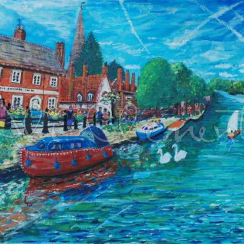 Abingdon Boats - Ali's Art Designs