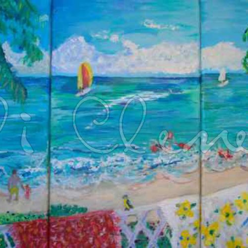 Barbados Balcony - Ali's Art Designs