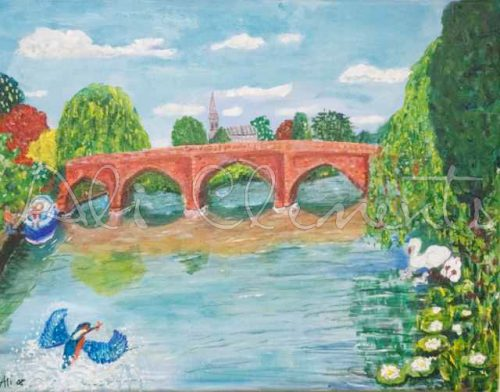 Clifton Hampden kingfisher - Ali's Art Designs