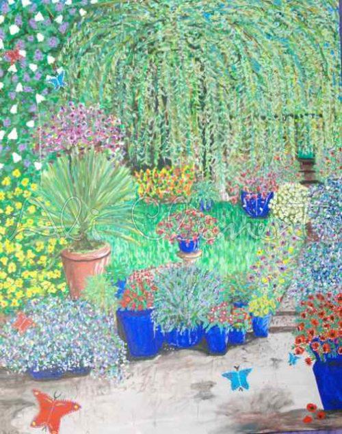 Garden with Willow - Ali's Art Designs