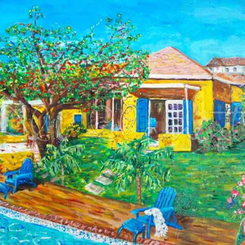 Yellow House Antigua- Ali's Art Designs