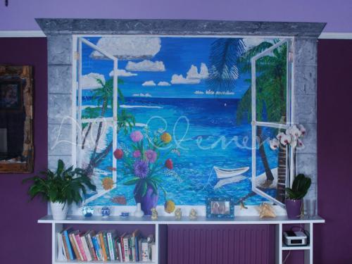 Caribbean Trompe L'Oeil - Ali's Art Designs